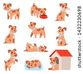 dog vector little doggie puppy... | Shutterstock .eps vector #1432230698