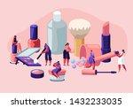 women in beautician parlor.... | Shutterstock .eps vector #1432233035