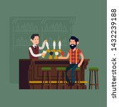 bar concept illustration.... | Shutterstock .eps vector #1432239188