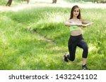 pretty woman doing sport... | Shutterstock . vector #1432241102
