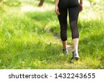 jogger in the park. woman... | Shutterstock . vector #1432243655