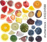 fruits collage  icon size ... | Shutterstock . vector #143224588