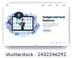 web page flat design template...