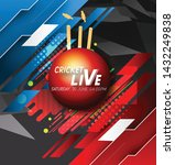 live cricket tournament poster... | Shutterstock .eps vector #1432249838