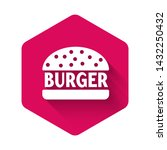 white burger icon isolated with ... | Shutterstock .eps vector #1432250432