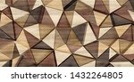 Abstract Parquet Floor With...