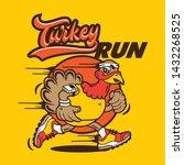 hip funky turkey running... | Shutterstock .eps vector #1432268525