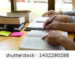 students teaching and learning... | Shutterstock . vector #1432280288