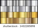 scratched metal chrome gold... | Shutterstock .eps vector #1432285898