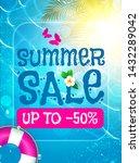 summer sale background. shining ...   Shutterstock .eps vector #1432289042