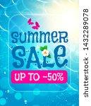 summer sale background. warm...   Shutterstock .eps vector #1432289078