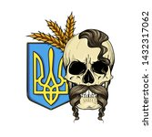 hand drawn color sketch  skull... | Shutterstock .eps vector #1432317062
