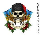 hand drawn color sketch  skull... | Shutterstock .eps vector #1432317065