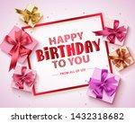 happy birthday vector greeting... | Shutterstock .eps vector #1432318682