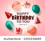 happy birthday greeting card... | Shutterstock .eps vector #1432318685