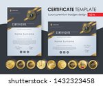 certificate template with... | Shutterstock .eps vector #1432323458