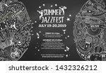 summer jazz fest chalk outline... | Shutterstock .eps vector #1432326212