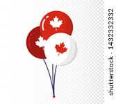 blue red balloons isolated on... | Shutterstock .eps vector #1432332332