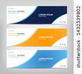 abstract web banner template ... | Shutterstock .eps vector #1432339802