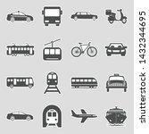 public transportation icons.... | Shutterstock .eps vector #1432344695