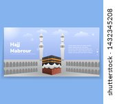 hajj mabrour landing page web... | Shutterstock .eps vector #1432345208