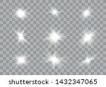 glowing lights effect. star... | Shutterstock .eps vector #1432347065