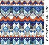 knitting classic vintage... | Shutterstock .eps vector #1432347548