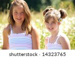 two cute young girls in... | Shutterstock . vector #14323765
