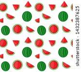 vector pattern with juicy... | Shutterstock .eps vector #1432387625