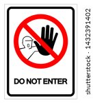 Do Not Enter Symbol Sign ...