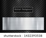 abstract metallic frame on... | Shutterstock .eps vector #1432393538