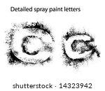 detailed spray paint font cc   Shutterstock .eps vector #14323942