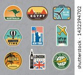 travel vintage sticker. summer... | Shutterstock .eps vector #1432394702