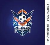 soccer football badge logo... | Shutterstock .eps vector #1432403885