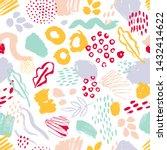modern seamless pattern with... | Shutterstock . vector #1432414622