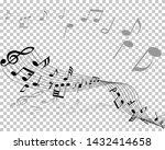 vector notes design with... | Shutterstock .eps vector #1432414658