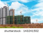construction site with crane... | Shutterstock . vector #143241502