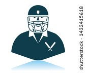 cricket player icon. shadow... | Shutterstock .eps vector #1432415618
