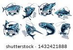 Fishing Set Of Ocean Fish....