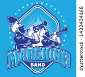 Marching Band Vector Crest Log...
