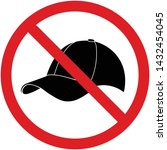 no cap or no hat prohibition... | Shutterstock .eps vector #1432454045