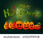 happy halloween background.... | Shutterstock .eps vector #1432459418
