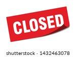 closed square sticker. closed... | Shutterstock .eps vector #1432463078