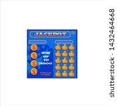 lottery ticket vector lucky... | Shutterstock .eps vector #1432464668
