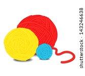 Stock vector balls of yarn 143246638