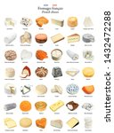 set of traditional cheeses of... | Shutterstock . vector #1432472288