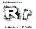 detailed spray paint font rr   Shutterstock .eps vector #14324818