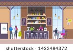 modern workplace interior. cafe ... | Shutterstock .eps vector #1432484372