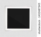 polaroid photo frame. square... | Shutterstock .eps vector #1432487345