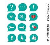 set of icons   punctuation... | Shutterstock .eps vector #1432491122